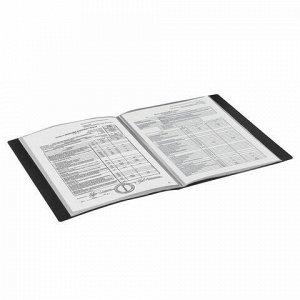Папка 30 вкладышей BRAUBERG стандарт, черная, 0,6 мм, 221600