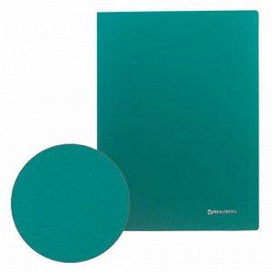 "Папка 20 вкладышей BRAUBERG ""Office"", зеленая, 0,5 мм, 222627"