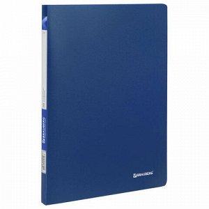 """Папка 30 вкладышей BRAUBERG """"Office"""", синяя, 0,5 мм, 222631"""