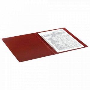"""Папка с пластиковым скоросшивателем BRAUBERG """"Office"""", красная, до 100 листов, 0,5 мм, 222643"""
