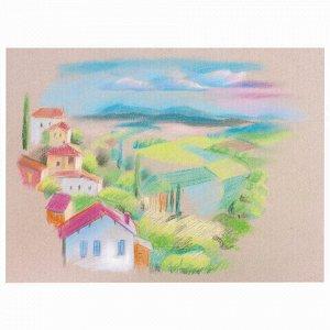 Пастель сухая художественная BRAUBERG ART CLASSIC, 12 цветов, круглое сечение, 181453