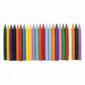 """Восковые мелки ЛУЧ """"Классика"""", 24 цвета, круглые, картонная упаковка с европодвесом, 12С 862-08"""