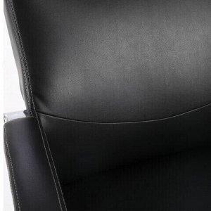 """Кресло офисное BRABIX PREMIUM """"Total HD-006"""", НАГРУЗКА до 180 кг, экокожа, хром, черное, 531933"""
