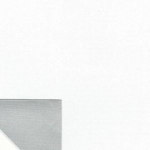 Штора рулонная светонепроницаемая (Блэкаут) BRABIX 50х175 см, белый/серебро, 606004