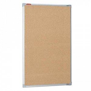Доска пробковая для объявлений 100х60 см, металлическая рамка, BOARDSYS, П*60