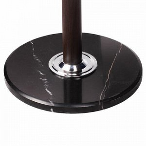 """Вешалка-стойка BRABIX """"CR-274"""", металл/мрамор, 1,8 м, на диске диаметром 36 см, 5 крючков + 4 дополнительных, венге, 601744"""
