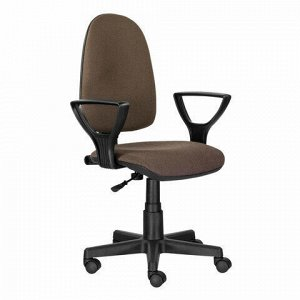 """Кресло BRABIX """"Prestige Ergo MG-311"""", регулируемая эргономичная спинка, ткань, коричневое, 531875"""