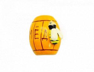 Фигурка магнитик Бочонок с мёдом