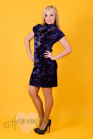 Платье П 533 (индиго)
