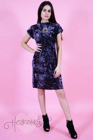 Платье П 533 (темно-серый)