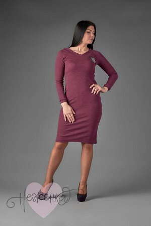 Платье П 713 (меланж бордовый)