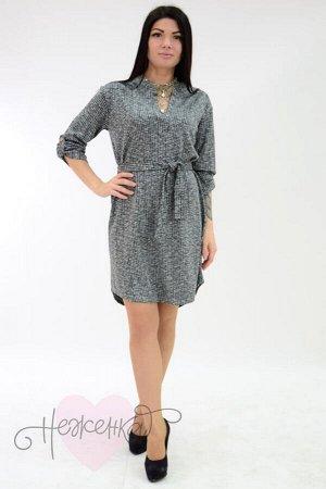 Платье П 684/2 (зеленая рябь)