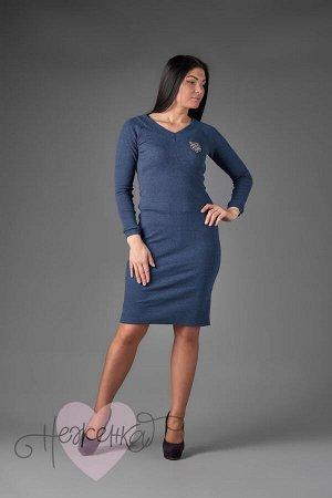 Платье П 713 (меланж синий)