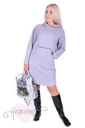 Платье П 717 (серый)