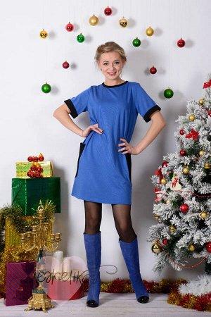 Платье П 372 (синий)