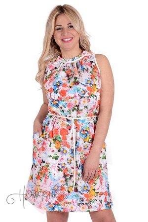 Платье П 700/2 (цветочная поляна)