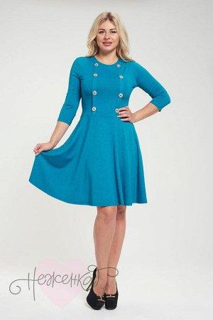 Платье П 525 (меланж морская волна)