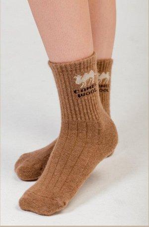 Носки из верблюжей шерсти 100% (41-43, рыжий)
