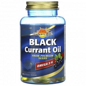 Health From The Sun, Масло из семян черной смородины, 1000 мг, 60 мягких желатиновых капсул