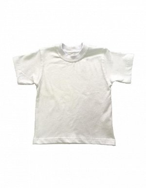 Футболка дет. (белая, хлопок, лайкра), цвет белый