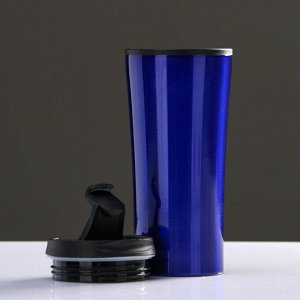 "Термокружка ""Нова"" 450 мл, сохраняет тепло 2 ч, синяя 7.6х18.4 см"