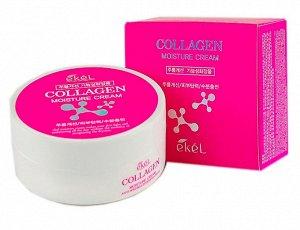 "Крем для лица увлажняющий ""Коллаген"" Ekel Moisture Cream Collagen 100 гр"