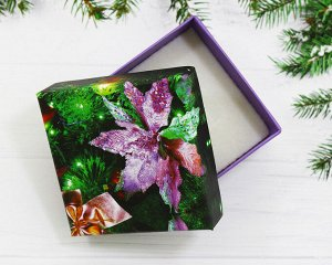 Подарочная коробочка(5.5*5.5) Елочное украшение