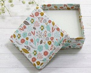 Подарочная коробочка(5.5*5.5) Цветочный луг