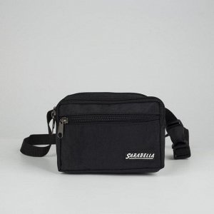 Сумка поясная, наружный карман, цвет чёрный