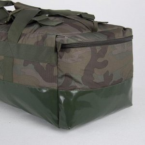 Сумка-рюкзак туристический, 100 л, отдел на молнии, 2 наружных кармана, цвет камуфляж