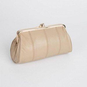 Косметичка-фермуар, 2 отдела на рамке, наружный карман, цвет розовый