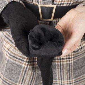 Перчатки женские, безразмерные, без утеплителя, цвет чёрный