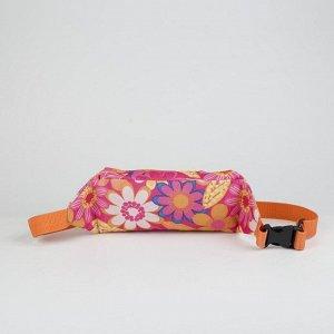 Сумка поясная, отдел на молнии, наружный карман, цвет оранжевый