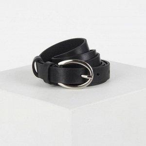 Ремень, ширина 2 см, пряжка металл, цвет чёрный