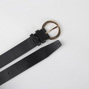 Ремень, ширина 3 см, пряжка металл, цвет чёрный