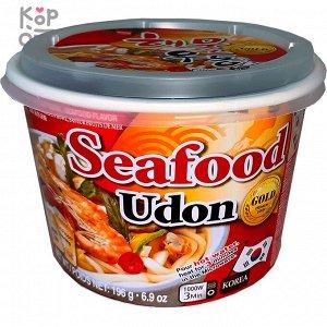 """Лапша Удон со вкусом морепродуктов """"Seafood flavor udong"""" 196 г"""