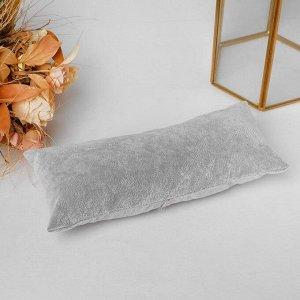 Подушка для украшений, 22*9 см, цвет серый