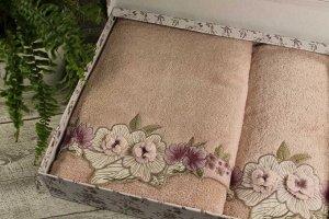 Набор полотенец  ANEMON бамбук (2 шт) (50*90,70*140) розовый