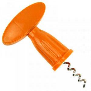 Штопор винтовой металлический 13см, пластмасовая ручка (Кита