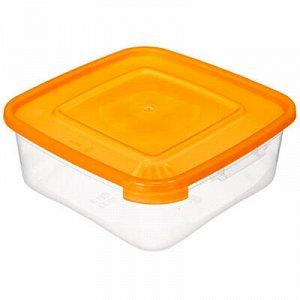 """Контейнер для продуктов пластмассовый """"Каскад. Квадро"""" 0,7л."""