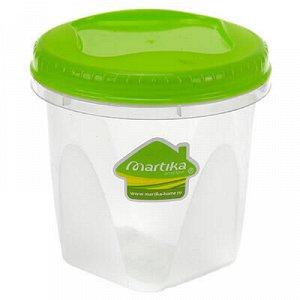 """Контейнер для продуктов пластмассовый """"Тондо"""" 0,65л, д11см."""