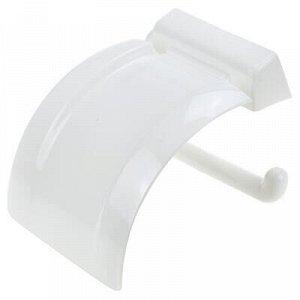 Держатель для туалетной бумаги пластмассовый 6x4,5x17см, бел