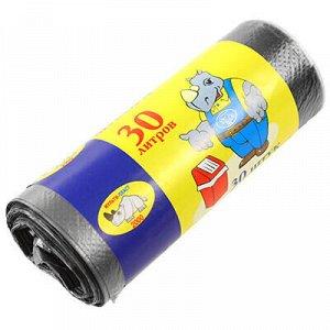 Мешки для мусора в рулоне 30л, 50х24см, 30шт, в рулоне, 6мкм