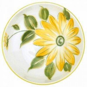 """""""Солнечный цветок"""" Блюдце-розетка для варенья фарфоровое д9."""