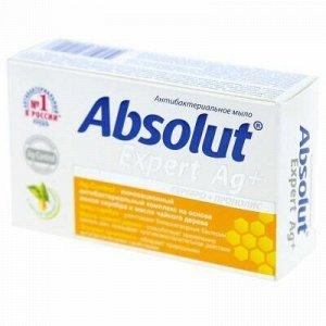 """Мыло туалетное твердое """"Absolut"""" """"Expert"""" 90г, серебро + про"""