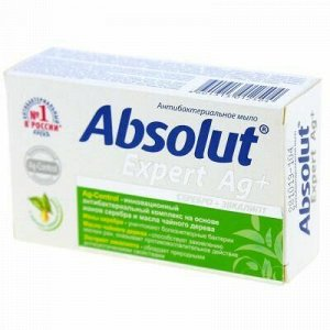 """Мыло туалетное твердое """"Absolut"""" """"Expert"""" 90г, серебро + эвк"""