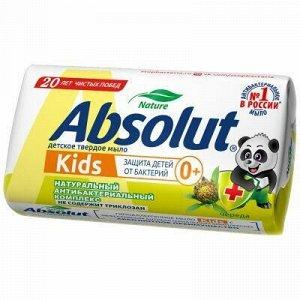 """Мыло туалетное твердое детское """"Absolut"""" """"Kids"""" 90г, череда"""