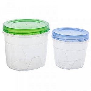 Банка для сыпучих продуктов пластмассовая набор 2шт: 0,5л -