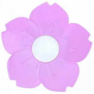 """Мыльница настольная пластмассовая """"Цветок"""" д14,5х2,5см, цвет"""