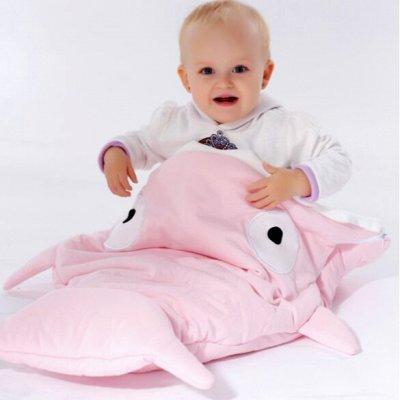 Всё для малыша. Безопасность, уход, посуда, одежда. Нужное — Спальный мешок для малыша Акула